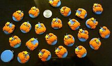 Close out crab charms 24 pcs fimo clay with loop make earrings, necklaces gbs025