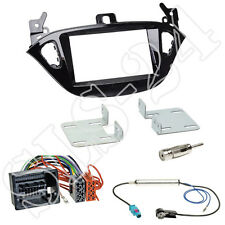 Opel Adam S-D Corsa E ab2013 Doppel 2-DIN Radioblende+ISO Adapter + Antenne SET