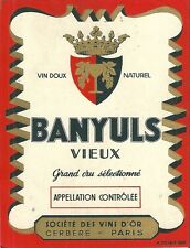 Etiquette de vin Banyuls vieux Postiaux eonologie wine