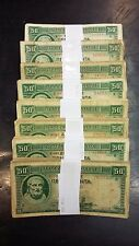 GREECE - 50 drachmas 1939 banknote bundles - (each bundles consists of 50 notes)