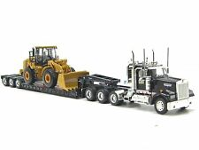 Caterpillar KENWORTH W900 triaxle with Cat 950H Diecast 1:50 Norscot 55208