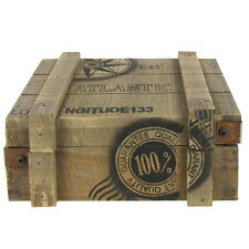 Nautical Wood Box Nautical Decor  Storage for Small Trinkets or Keys