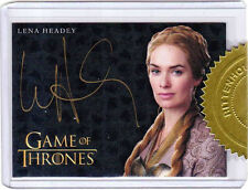 Game of Thrones Season Three Autograph Card Lena Headey as Cersei (Gold)