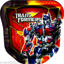 TRANSFORMERS LARGE SHAPED PAPER PLATES (8) ~ Birthday Party Supplies Luncheon