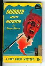 MURDER MEETS MEPHISTO by Mario, rare US Bart #11 crime horror pulp vintage pb