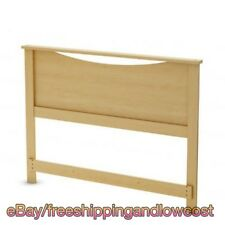 """Full/Queen Size Headboard Fits 54"""" and 60"""" Beds Tall Natural Maple Elegance"""