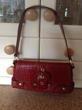 GREAT WILSONS LEATHER RED SHOULDER BAG WITH ENCLOSED PURSE USED GOOD COND