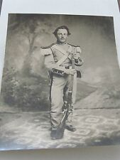 Civil War Soldier in uniform photograph from tin type Edwin Chapel Norwich Ct