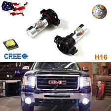 2x 5202 H16 CREE High Power 100W 6000K Super White LED Fog DRL Lights Bulb