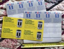 10 NEW OLD STOCK  MOBIL 1 OIL CHANGE STICKERS very clean