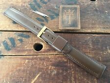 """18mm 11/16"""" Long Old-Stock Calfskin Leather Gemex USA 1950s Vintage Watch Band"""