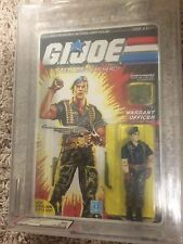 GI JOE 1985 FLINT AFA 90 85/90/90 Series 4 36 Back UNPUNCHED RARE