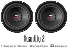 Qty 2 Pyle Car Subwoofer 1000 Watt 4 Ohm 10-Inch Bass Audio Speaker PLPW10D Coil