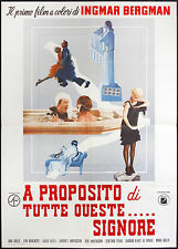 CINEMA-manifesto A PROPOSITO DI TUTTE QUESTE SIGNORE kulle, dahlbeck, BERGMAN