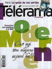 telerama  n° 2929 chanteur quebecois rembrandt pancrazi