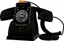 Ice Phone Smartphone Handset Retro Phone Rubberised Gift BLACK