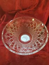 NEW FLAWLESS Exceptional WATERFORD Crystal CENTERPIECE TRAY DISH BOWL