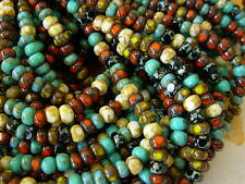 "6/0 Czech 3 Cut Seed Beads- Multi Picasso Mix (1/20"") #606"