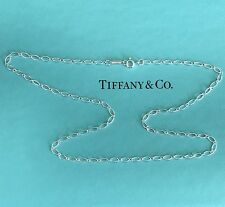 Tiffany & Co Silver Oval Link Chain Necklace