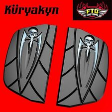 Kuryakyn Chrome Zombie Floorboard Covers for Driver & Passenger 4572