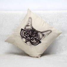 Vintage Cotton Linen Pillow Case Sofa Waist Throw Cushion Cover Home Decor L8J0