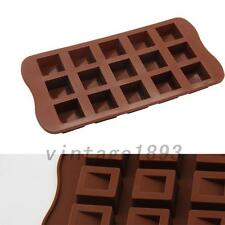 DIY Square Cake Mold Cookie Mould Silicone Soap Mold Chocolate Mould