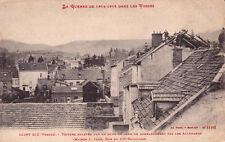 CPA GUERRE 14-18 WW1 SAINT-DIE rue du 10ème bataillon toiture enlevé éd weick