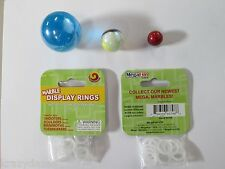 """MARBLE DISPLAY RINGS HOLDERS BY MEGA MARBLES 12 PACK WILL HOLD FROM 3/4"""" TO 2"""""""