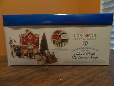 Dept56 55040 Silver Bell Christmas Shop Store Tree Lot Santa Sleigh Ride Village