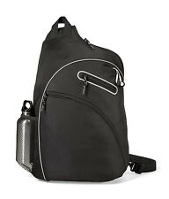 "Gemline Evolution 14"" Laptop / MacBook Black Sling Bag"