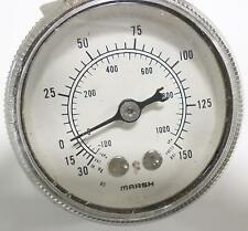 MARSH 30-150PSI / -100-100kPA PRESSURE GAUGE
