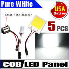 5X 8W White 48 chips COB LED Dome Map light Panel Interior Bulb +T10 1156 DC 12V