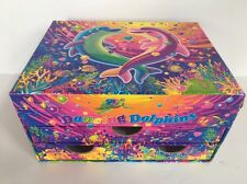 Lisa Frank Dancing Dolphins Box 2012 Stationary Storage Chest Jewelry Box