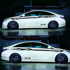 2Pcs Nismo Garland Sticker RS R Car waist line Racing Decoration Decals AN009
