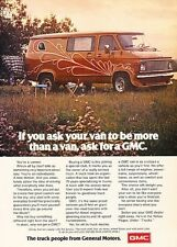 1976 GMC Vandura Van Original Advertisement Print Car Ad J538