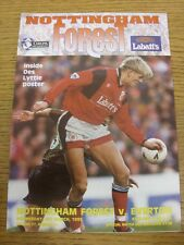 08/03/1995 Nottingham Forest v Everton  . Condition: Listed previously in bracke