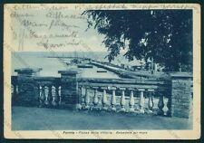 Latina Formia Piazza della Vittoria PIEGHE FG cartolina VK2886