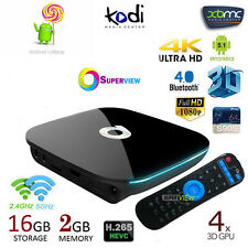 QBOX 2GB/16GB Amlogic S905 Mali-450 Android 5.1/6.0 Smart TV BOX Dual WIFI PC