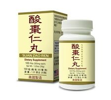 Suan Zao Ren Supplement Helps Insomnia Rapid Heart Beat Anxiety Made in USA