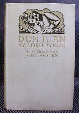 DON JUAN Lord Byron ILLUSTRATED 1926 Binding JOHN AUSTEN Poetry PICK UP ARTIST