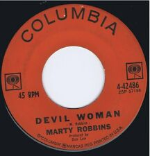 "MARTY ROBBINS ""Devil Woman"" / ""April Fool's Day"" Vinyl 45 Music Record VG+ 1962"
