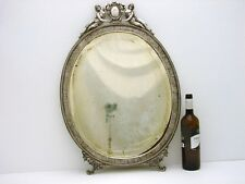 """Sterling Silver engraved Wall Dresser Mirror & Frame Neo-Classic Motif 26""""x 18"""""""