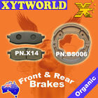 FRONT REAR Brake Pads Shoes for Yamaha TT 350 1985-1995