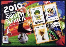 Perú 2010 fútbol WM Soccer FIFA World Cup bloque ** mnh