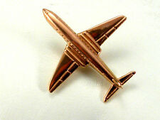 Vintage 18k Rose Gold Numbered 3D Airplane Retro Pin 1940 very collectible