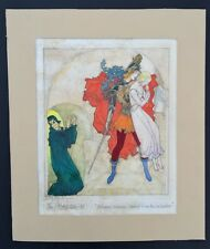 Original Willy Pogany Illustration  For Spenser's The Faerie Queen. Signed C1930