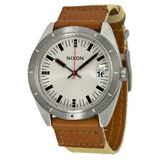 Nixon Rover Silver Dial Brown Leather Mens Watch A3551430