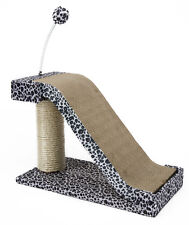 Cat Scratching Post Leopard Print Slope