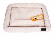 """GoGo Thick and Comfy Fleece Dog Bed Puppy Bed - White - X-Small 19"""" x 13"""""""