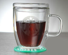 StarBucks Double Wall Clear Glass Coffee Latte Drinking Cup Mugs Cups 475ml